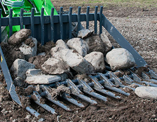 Avant® front loaders - stone collecting riddle bucket UK Avant sales