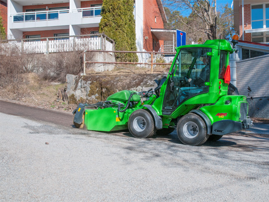 Avant® front loaders - collecting broom UK Avant sales