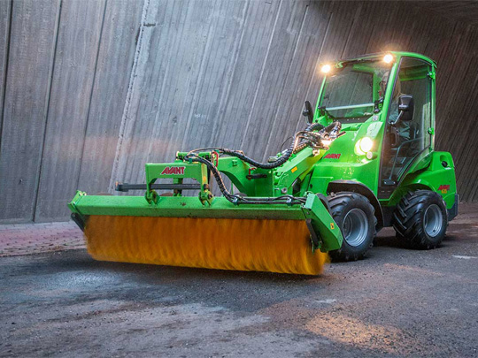 Avant® front loaders - rotary broom UK Avant sales