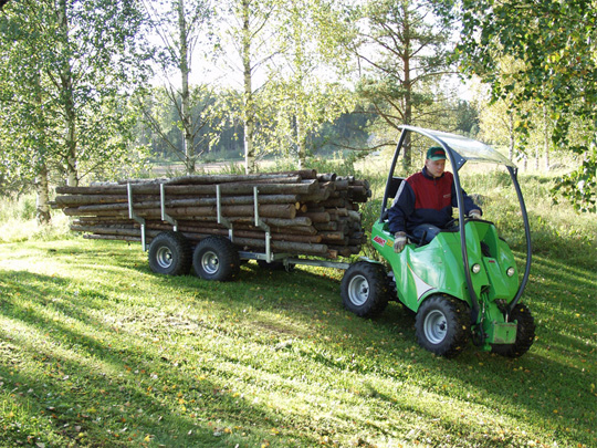 Avant® front loaders - timber trailers UK Avant sales