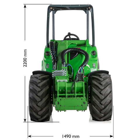 Avant 800 Series loader size
