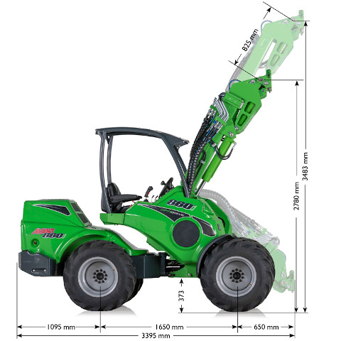 Avant 800 Series loader specification